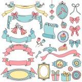 Doodles de la vendimia Foto de archivo libre de regalías