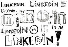 Doodles de Linkedin Foto de archivo
