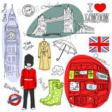 Doodles de Londres Imagem de Stock Royalty Free