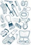 Doodles de los cosméticos