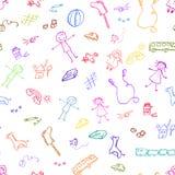 Doodles de los juguetes Imágenes de archivo libres de regalías
