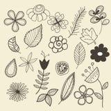 Doodles de Pnature Imagens de Stock