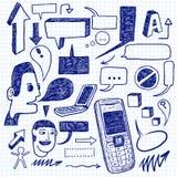 Doodles de uma comunicação Fotos de Stock Royalty Free