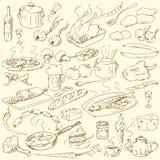 Doodles del alimento ilustración del vector
