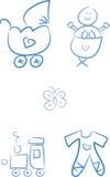 Doodles del bebé: Bebé Imagen de archivo libre de regalías