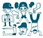Doodles del deporte Fotos de archivo libres de regalías