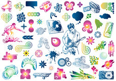 Doodles del diseño del ocio Imagen de archivo libre de regalías