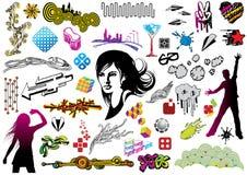 Doodles del diseño Fotos de archivo libres de regalías