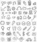 Doodles del icono Imagen de archivo libre de regalías