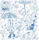 Doodles del otoño. Imagenes de archivo