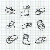 Doodles del papel del cuaderno Fotografía de archivo libre de regalías
