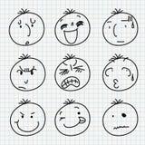 Doodles del papel del cuaderno Fotos de archivo libres de regalías