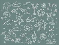 Doodles del recorrido fijados libre illustration