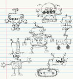 Doodles del robot Fotografia Stock