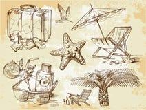 Doodles del salotto di estate Fotografie Stock Libere da Diritti