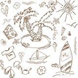 Doodles del tema del verano Libre Illustration