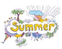 Doodles del verano Imagen de archivo