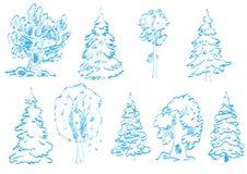 Doodles dell'albero Fotografia Stock Libera da Diritti