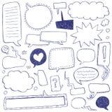 Doodles della bolla di discorso Fotografie Stock