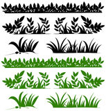Doodles design for grasses Royalty Free Stock Photography