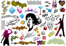 Doodles di disegno Fotografie Stock Libere da Diritti