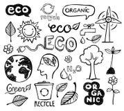 Doodles di Eco Fotografia Stock
