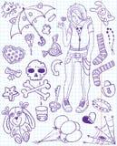 Doodles di Emo Immagine Stock
