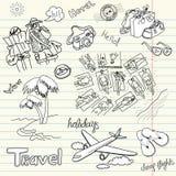 Doodles di feste Fotografia Stock