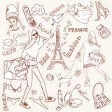 Doodles di Girly Fotografia Stock Libera da Diritti