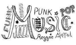 Doodles di musica Fotografie Stock Libere da Diritti