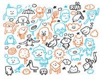 Doodles divertidos Imágenes de archivo libres de regalías