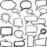 Doodles do discurso ilustração do vetor