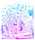 Doodles do esboço do livro Fotografia de Stock Royalty Free