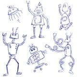 Doodles do robô Foto de Stock Royalty Free
