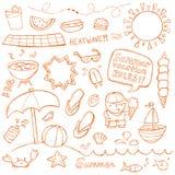 Doodles do verão ilustração do vetor
