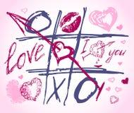 Doodles do vetor do amor. Ajuste o ícone - corações desenhados mão Imagem de Stock Royalty Free