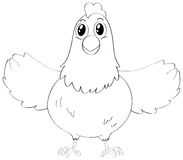 Doodles drafting animal for cute hen Stock Photos