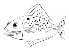 Doodles drafting animal for fish swimming Royalty Free Stock Photo