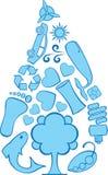 doodles eco σταγονίδιων Ελεύθερη απεικόνιση δικαιώματος