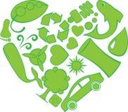 doodles eco serce ilustracja wektor