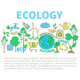 Doodles Ecology Set Royalty Free Stock Photo