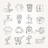 Doodles Ecology Set Royalty Free Stock Image