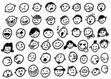 doodles emoticon Стоковое Фото