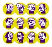 Doodles engraçados Fotos de Stock