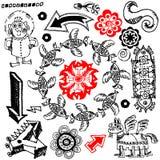 Doodles engraçados Fotos de Stock Royalty Free