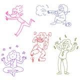 Doodles engraçados Imagens de Stock Royalty Free