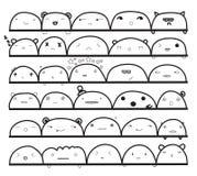Doodles engraçados Foto de Stock