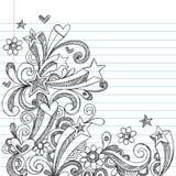 Doodles esboçado abstratos do caderno Imagem de Stock