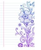 Doodles florais ilustração stock