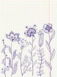 Doodles florales Imagen de archivo